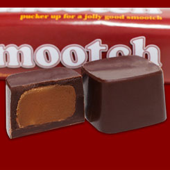 SMOOTCH<br /> The Dairy-free 'milk' chocolate toffee cup.