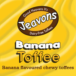 Chewy toffee bursting with bananas.